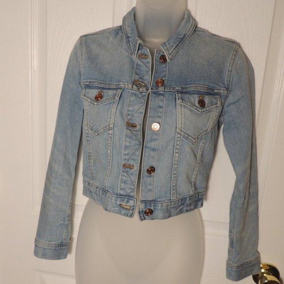 J Crew Women's Blue Jean Jacket Size XXS